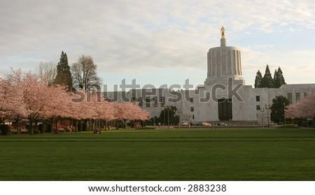 Oregon Capitol - stock photo