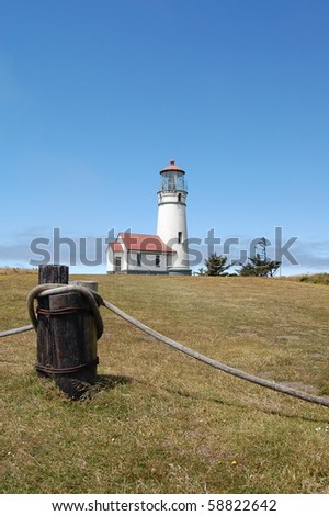 Oregon Coast - Cape Blanco Lighthouse - stock photo
