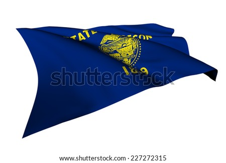 Oregon flag - USA state flags collection no_4  - stock photo