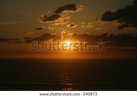 Oregon Sunset over Pacific Ocean