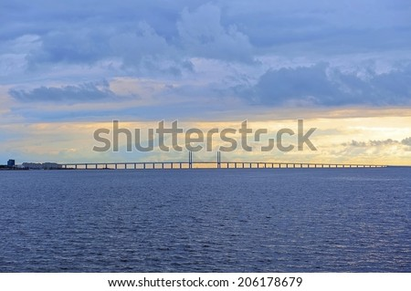 Oresund bridge - stock photo
