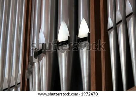 Organ pipes - stock photo
