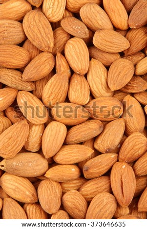 Organic almond nuts .Selective focus photograph. - stock photo