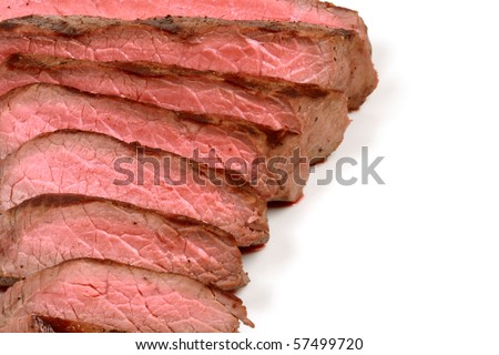 organic beef grilled to perfection to keep all the nutrients and flavors - stock photo