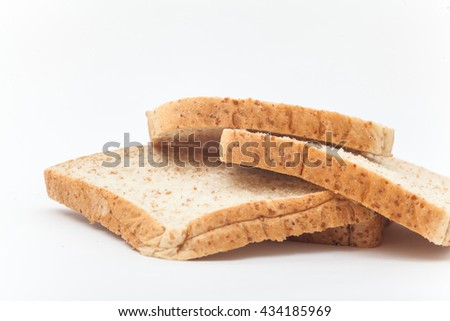 Organic bread on the white background, Bread isolation,Wheat