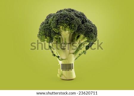 organic broccoli - stock photo