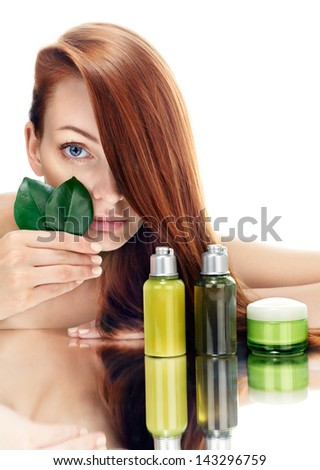 organic cosmetic - stock photo