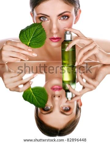 organic cosmetic - stock photo
