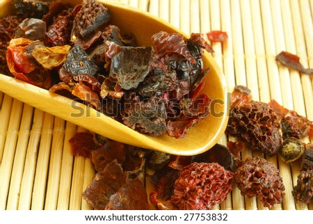Organic fruit tea - stock photo