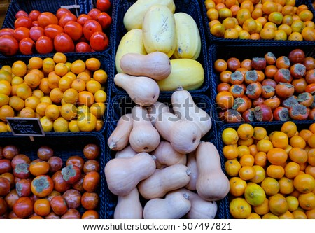 Organic fruit & vegetable selection