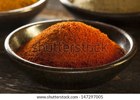 Organic Gourmet Hot Ground Spices used for Cooking - stock photo