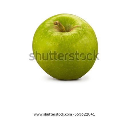 Organic Granny Smith Apple isolated on white
