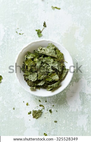 Organic lemon balm (melissa officinalis) for tea - stock photo