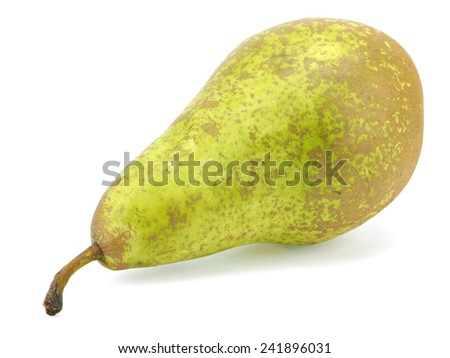 Organic pear on a white background - stock photo
