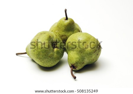 organic pears on a white background