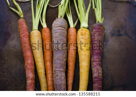 Organic Rainbow Carrots Organic Rainbow Carrots From