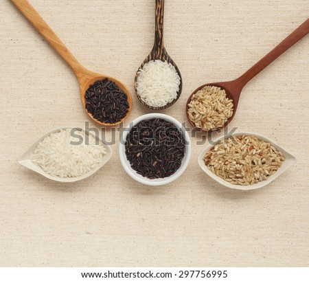 Organic rice design with space on background