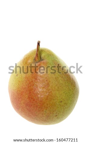 Organic ripe tasty pear on a white background for healthy food