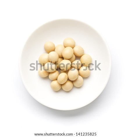 organic soybeans - stock photo
