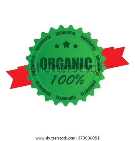 Organic 100% stamp. - stock photo
