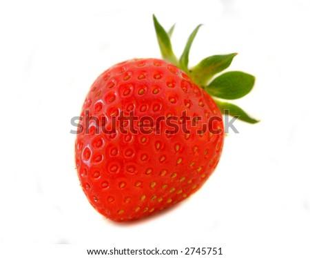 Organic Strawberry - stock photo