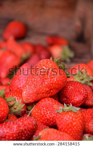 Organic strawberry in a market in Macedonia
