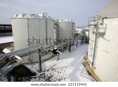 Organic waste plant from outside.