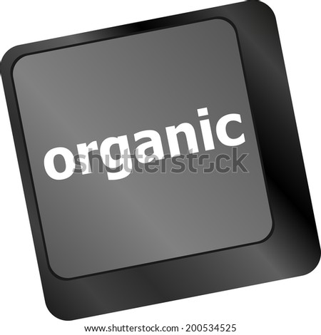 organic word on green and black keyboard button