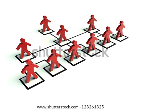 Organisation chart - stock photo