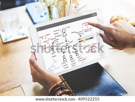 Organization Chart Management Planning Concept - stock photo