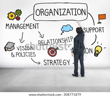 Organization Management Team Group Company Concept - stock photo