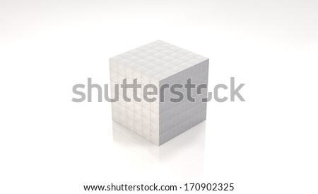 Organization of Stacked Cubes (with clipping path) - stock photo