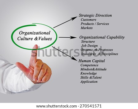 Organizational Culture&Values  - stock photo