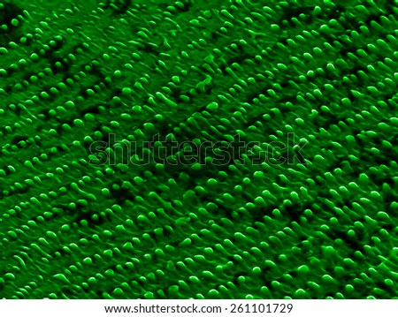 Organized nanostructures on nickel produced by laser ablation - stock photo