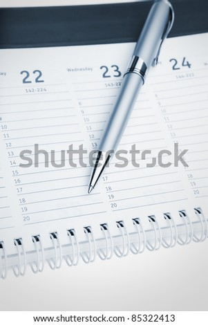 Organizer and Pen -Business planning - stock photo