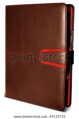 Organizer - daily planner isolated over white background - stock photo