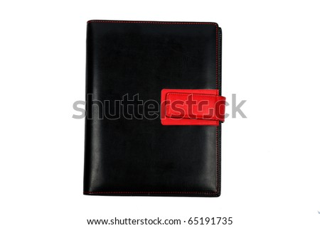 Organizer - daily planner over white - stock photo