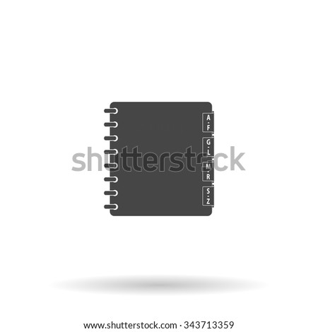 Organizer. Flat icon on grey background with shadow - stock photo