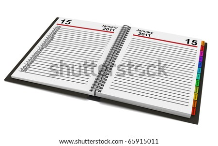 Organizer for 2011 year over white. Computer generated 3d image - stock photo