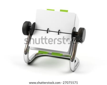 Organizer isolated on a white background. - stock photo