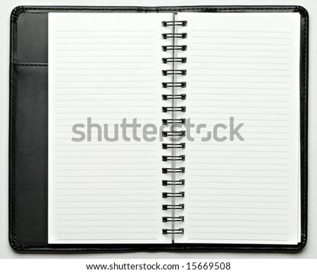 organizer note book - stock photo