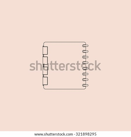 Organizer. Outline icon. Simple flat pictogram on pink background - stock photo