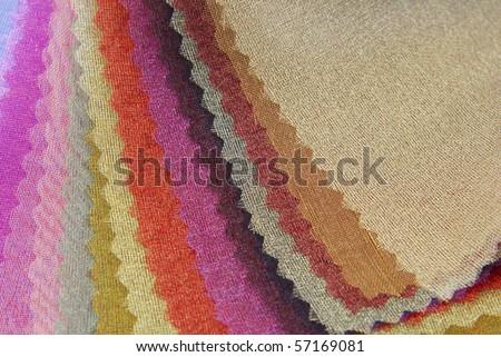 organza fabric texture sampler - stock photo