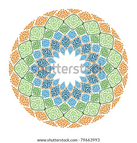 oriental  arabesque  Islamic art - stock photo