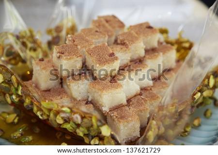 Oriental Arabic sweets - stock photo