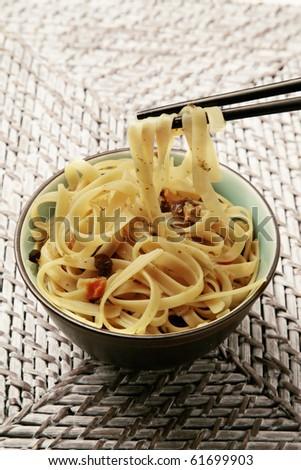 oriental asian noodles - stock photo