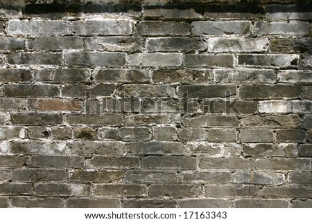oriental brick wall for background use