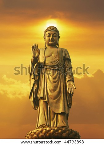 Oriental Buddha - stock photo