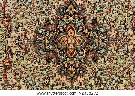 Oriental carpet texture - stock photo