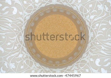 Oriental Decoration in Sheikh Zayed Mosque, Abu Dhabi United Arab Emirates - stock photo
